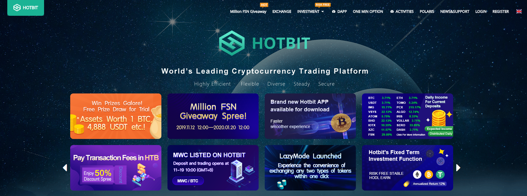 Hotbit プラットフォーム