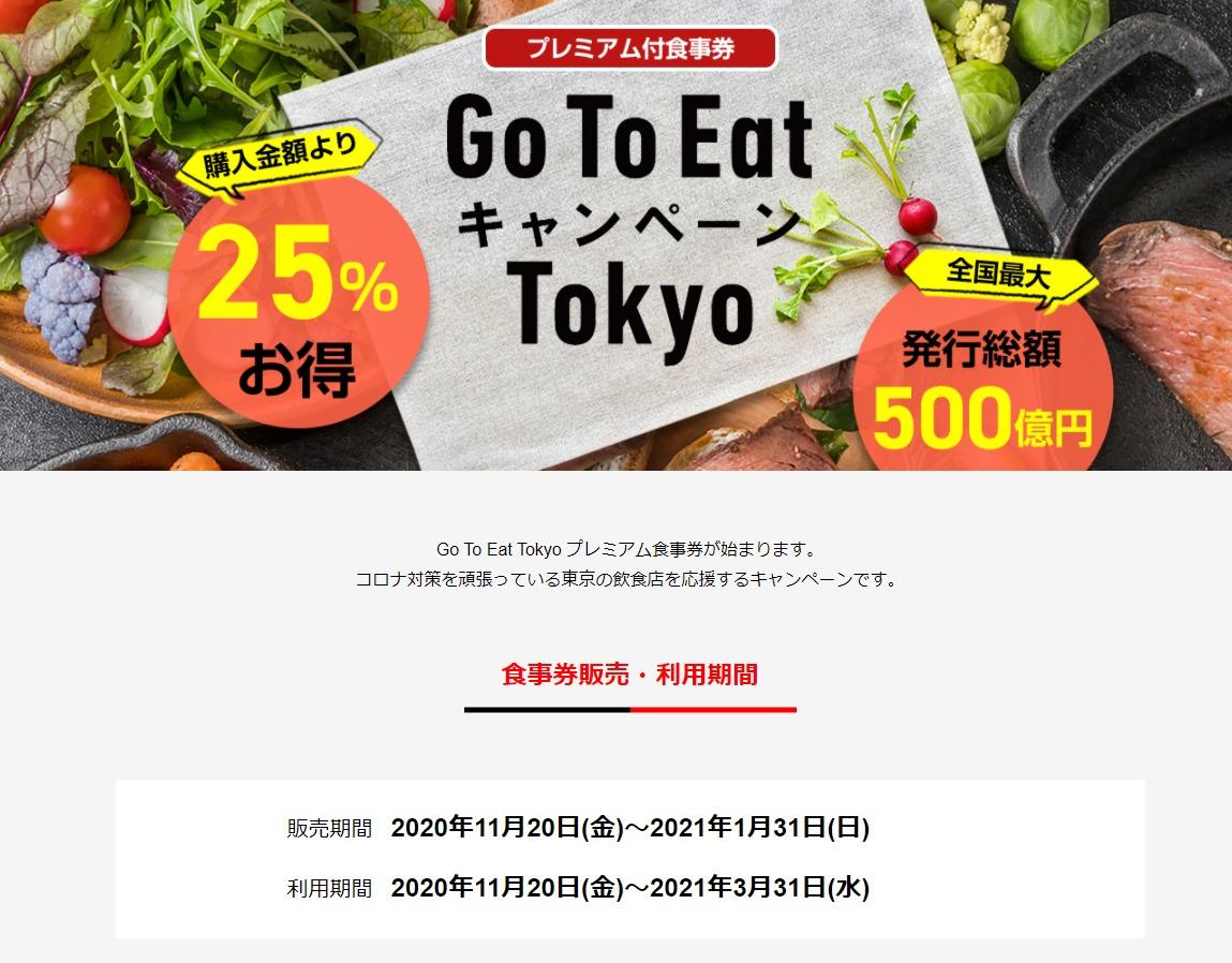 GO TO EatキャンペーンTokyo
